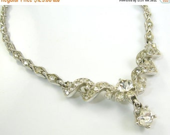 30% Off Sale Bogoff Clear Rhinestone Necklace