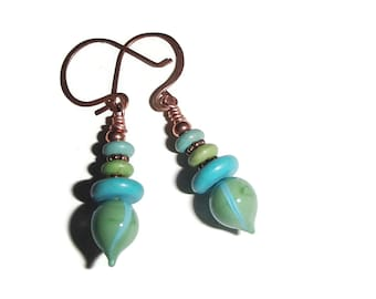 Lampwork Artisan Earrings Boho OOAK