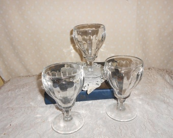 Ice Cream Soda Fountain Glasses set of 3 Parfait Ice Cream Sundae