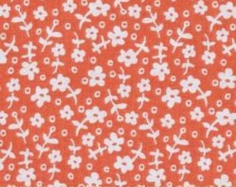 Michael Miller - Wallpaper Flowers - Orange  -  by the Yard