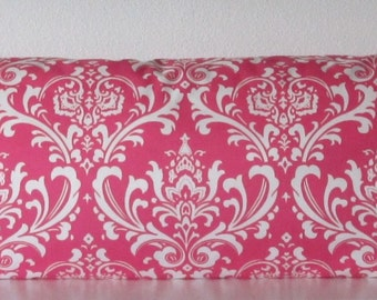 Pillow Cover - Hot Pink tradition - damask Print - Cushion Cover