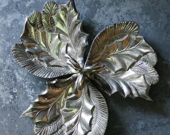 Candy Dish - 3 Leaf Compartments- By: International Silver Co