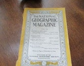 June 1944 Issue - National Geographic Magazine - Original Post World War 2 Issue - World War 2 Era Collectible Magazine - Reserved for Jo