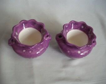 """2"""" Ceramic African Violet Pot / Planter / Set of 2"""