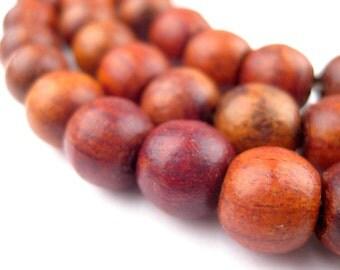 108 Rosewood Beads 9x11mm - Wood Prayer Beads - Rosary Beads - Mala Beads - Meditation Yoga Jewelry Making Supplies (WOD-RND-BRN-143)