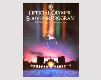 New 1984 Souvenir Program Book, Official Olympic Program, Los Angeles, Vintage Olympic Program Book, Olympics by NewYorkMarketplace on Etsy