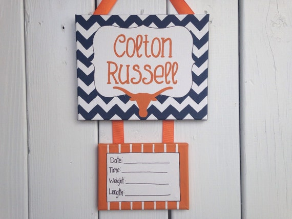 Items similar to texas longhorn baby boy hospital door for Baby boy hospital door decoration