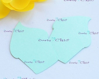 """24 Cup Cakes Die """"a"""" cuts Size 2.50"""" -Paper Cup Cakes Tags -Cup Cakes Labels -Cardstock die cuts -Paper tags -Cup Cakes Labels"""