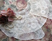 Lace Collar, Chantilly Lace, Bridal, Elegant, Dress Up, Photo Shoot, by mailordervintage on etsy