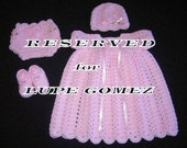 RESERVED for Lupe Gomez - Crochet Dress Set in Pink