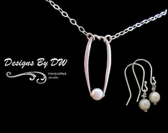Pearl Jewelry Gift Set - Jewelry Set for Mom - Jewelry Set for Wife - Christmas Gift Jewelry Set - Single Pearl Necklace Set