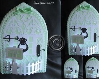 Elf Door 1 Card Cutting File,DXF,SVG,MTC,ScanNCut,Scal,Cricut,Cameo,Portrait,Curio,Knk,Silhouette