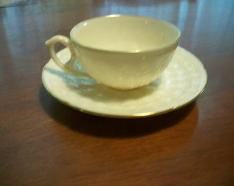 Lenox Flat Demitasse Cup & Saucer Set Reproduction of First Lenox 1889