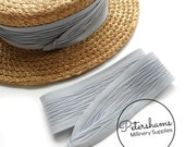 Wrap Around Puggaree Ribbon Hat Band for Hat Making / Millinery -  Grey