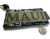 Coin Purse. Recycled, Maui, USA Coffee Bag. Handmade in Hawaii.