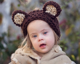 Winter Chunky Headband with Ears or without Ears