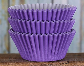 Purple Cupcake Liners, BakeBright Cupcake Liners, Purple Baking Cups, Cupcake Cases, Cupcake Wrappers, Wedding Cupcake Liners (60)