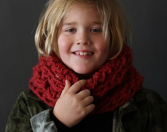 Crochet Cowl PATTERN Mountain Hill Cowl Crochet Cowl Pattern Includes 4 Sizes Toddler, Child, Teen and Adult