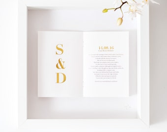Personalized Wedding Initials Picture/ Wedding Gift/ Gold Foil/ Personalised Anniversary Gift/ Bespoke Wedding Art