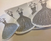 Custom Listing for Priya 10 pc Lovely silver pleated dress stickers Bridal shower