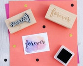 Forever Rubber Stamp - Wedding Stamper - Wedding Gift - DIY Wedding Invites - Handmade Wedding Invitations - Script Font - Couple