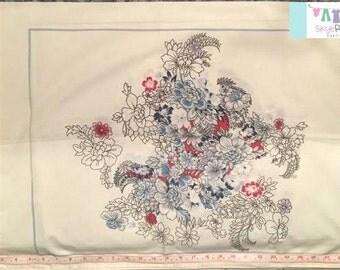 Vintage Placed Floral Pillowcase