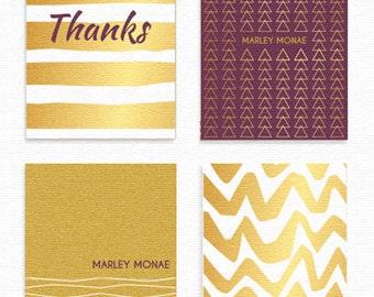 Golden Pattern Card Set (Set of 4)