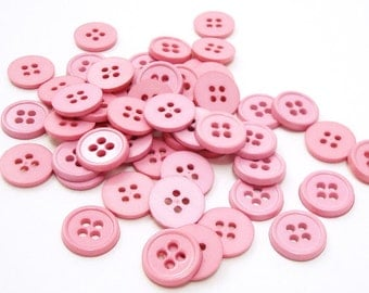 """1/2"""" (13 mm) buttons, Light Rosy Pink, Qty 51"""