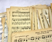 Hand Written Sheet Music. 100+ Pages of Vintage Handwritten Music Pgs. Crafting, Display, Art Installations, Scrapbooking, Smashbooks. 1940s