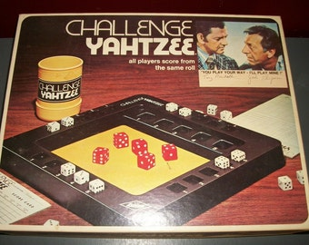 "Vintage Challenge Yahtzee Game ""Odd Couple"" Edition"