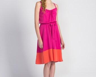 Sleeveless Color Blocked Dress