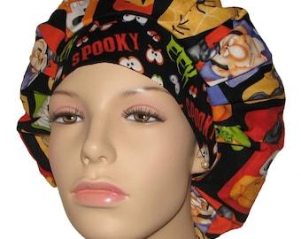 Scrub Hats - Halloween The Count Blocks Fabric