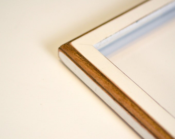 Vintage Color of Your Choice in 1x1 2-Tone Style - Choose your small frame size: 3x3, 3.5x5, 2x6, 4x4, 4x6, 5x5, 5x7, 6x6, 7x7, 6x8, 4x10