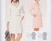 Burda Pattern 6772 Lined Fitted Coats in 2 Lengths w/ Princess Seams, Button Front, Front In-Seam Pockets, Two-Piece Sleeves Misses' 8 - 18