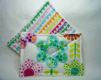 Nodda Sponge in Small World Floral in Pink - Sponge Set - Dish Cloth - Cleaning Cloth - Eco Friendly - Ready To Ship