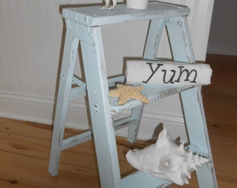 shabby chic step ladder furniture stool