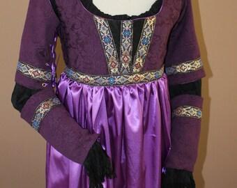 "Bust 34"" Juliet Gown Borgia Lucrezia Italian Gold Mardi Gras Dress Ever After Renaissance Medieval Borgias"