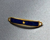 ON SALE Gold plated blue enamel connector /charm / link for bracelets with star