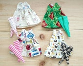 Lot of 4 Neo Blythe Dresses and Socks