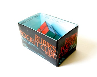 Vintage 1980s Toy Game / Ideal Rubik's Pocket Cube Sealed in Box 1981 / Game with Millions of Combinations- Just One Solution, For All Ages