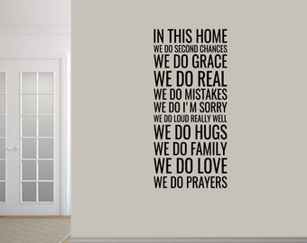 In This Home - Entryway Family and Living Room Wall Decals