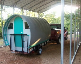 Custom Gypsy Wagon Vardo Camper Caravan Glamper Tiny House 750 Lbs. Popup Shop Photo Booth Comes with Title