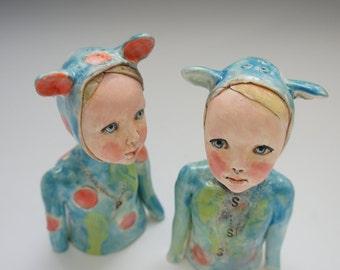 Yo! Ceramic shakers by artist Victoria Rose Martin