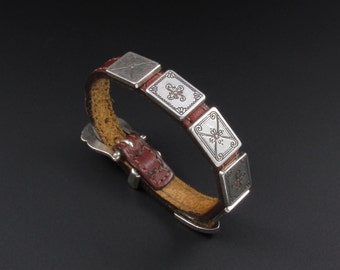 Brighton Leather Bracelet, Equestrian Bracelet, Southwestern Bracelet, Retired Brighton Bracelet