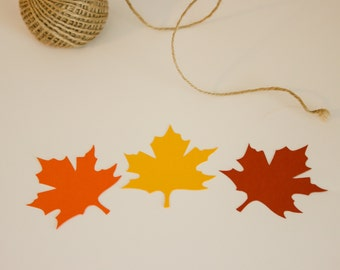 Paper Leaves, Set of 30, Fall Leaves, Autumn Leaves