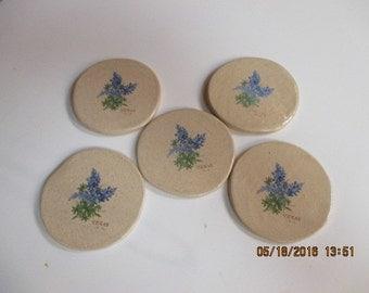 Set of 5 Stoneware Coasters