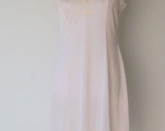 Vintage Pink Lace Slip Dress Medium