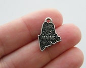 BULK 20 Maine charms antique silver tone WT151