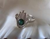 Hamsa Ring,Hamsa Jewelry,Spiritual Jewelry,Boho Jewelry,Adjustable Ring