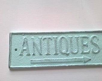 Cast Iron Rustic Antique Sign/ Home Decor/ Wall Decor Plaque